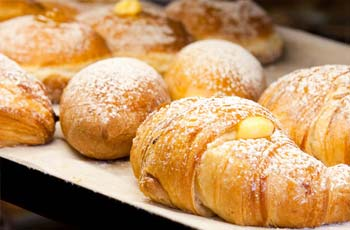 Various types of brioches